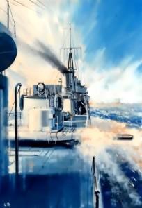 Image 45 HMS Khartoum launching a torpedo