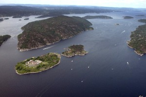 Oscarsborg aerial view