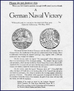 Propaganda leaflet to accompany replica medals