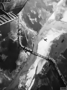 Vultee Vengeance attacks bridge