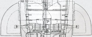X.1 forward hydroplanes plan view